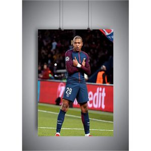AFFICHE - POSTER Poster Kylian Mbappe Celebration PSG wall art 04 -