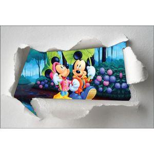 STICKERS Stickers enfant papier déchiré Minnie et Mickey ré