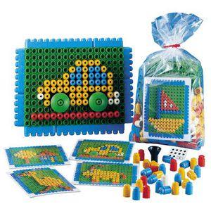 ASSEMBLAGE CONSTRUCTION Jeu de construction poly'm mosaique +modeles - sac