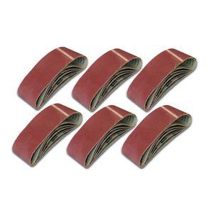 5 X Bandes abrasives,pour ponceuse /à bande//courroies abrasives,75mm x 457mm,grains 80