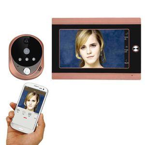 SONNETTE - CARILLON 720p wifi sans fil 7inch avant vidéo porte judas c