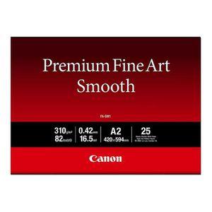 PAPIER IMPRIMANTE Canon Premium Fine Art Smooth FA-SM1 Lisse 16,5 mi