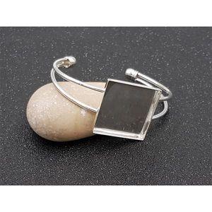 2 Bracelets Régide Moins Bijoux DIY brillant Plateau Rond Création DIY 15.5cm