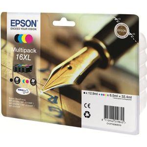 CARTOUCHE IMPRIMANTE Epson 16XL Multipack Pack de 4 XL noir, jaune, cya