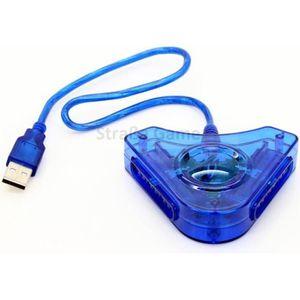 ADAPTATEUR MANETTE Adaptateur manette joystick PS1 PS2 sur PS3 ou PC