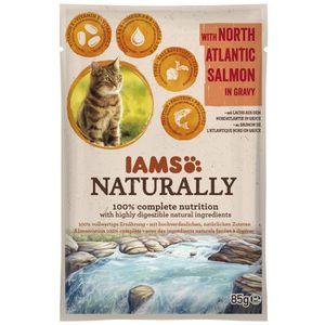 BOITES - PATÉES IAMS Naturally Humide Saumon Atlantique Nord en sa