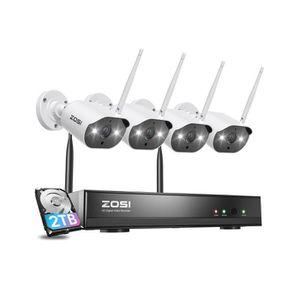 CAMÉRA DE SURVEILLANCE H.265+ HD 1080p Kit Vidéo Surveillance sans fil 8C