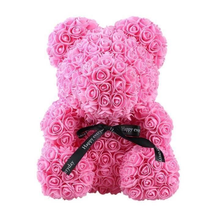 Rose Flower Saint Valentin Ours Des Rose pour Cadeau d'anniversaire, Cadeau de la Saint-Valentin, Décoration de Mariage