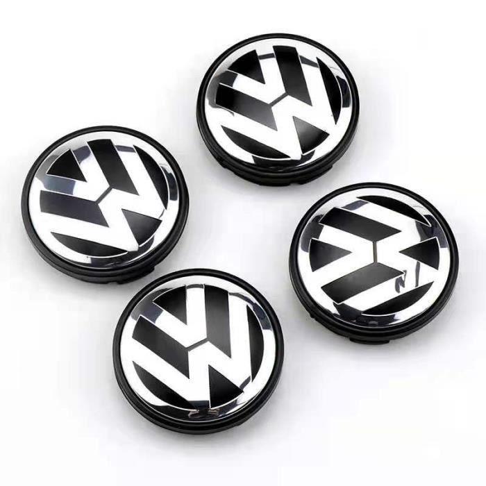 4 x centre de roue cache moyeu VW 65mm logo volkswagen emblème 3B7601171