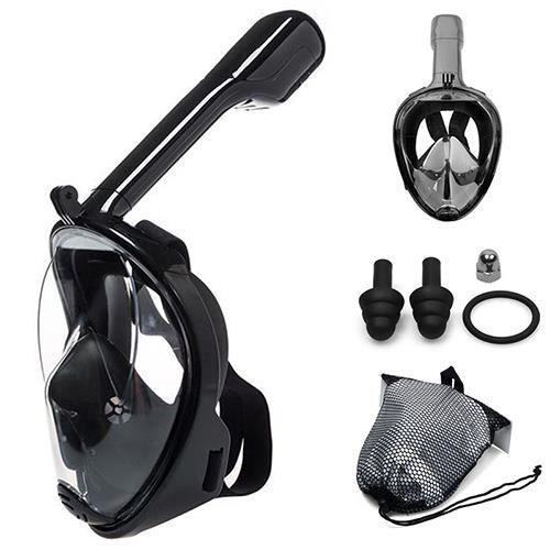 Masque de plongée anti-buée combinaison de plongée masque respiratoire équipement de natation étanche à l'humidité - noir - L