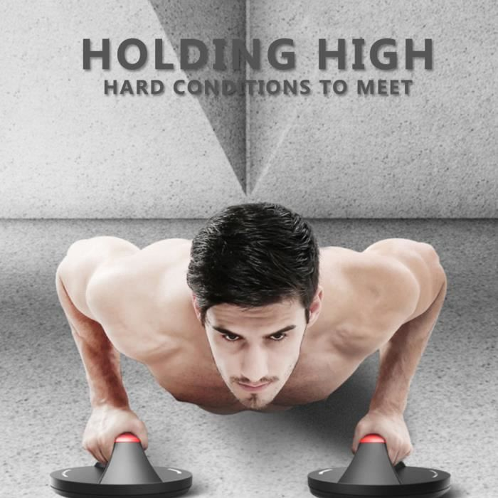 VICICA Poignée de musculation PUSH UP abdominale de muscle de fitness petit appareil de gym domestique