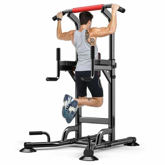 YOLEO Station de Musculation Barre de Traction Chaise Romaine Station Traction dips Multifonctions Banc de Musculation entraînement