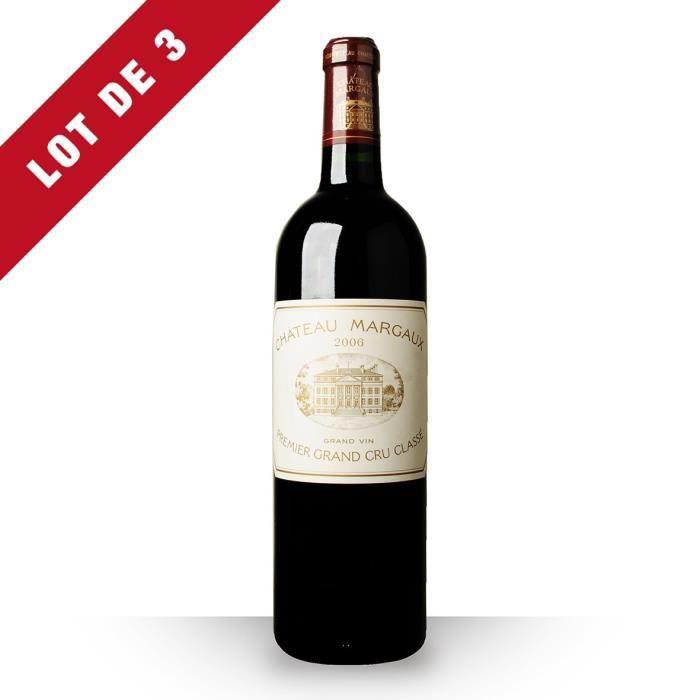 3X Château Margaux 2006 Rouge 75cl AOC Margaux - Vin Rouge