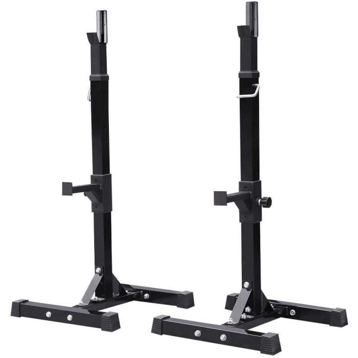 DIP STATION tech Repose Haltegravere Reacuteglable 14 Niveaux Repose Barre Musculation Supports pour Haltegraveres Longs agrave 375