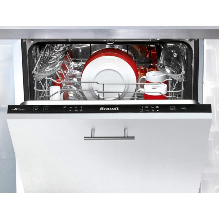 Lave-vaisselle BRANDT VH 1704 J - 14 couverts - 6 programmes - A+++