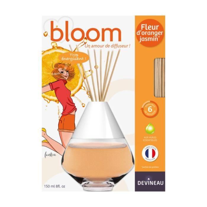 DEVINEAU Diffuseur de parfum à froid Bloom - 150 ml - Fleur d'Oranger Jasmin