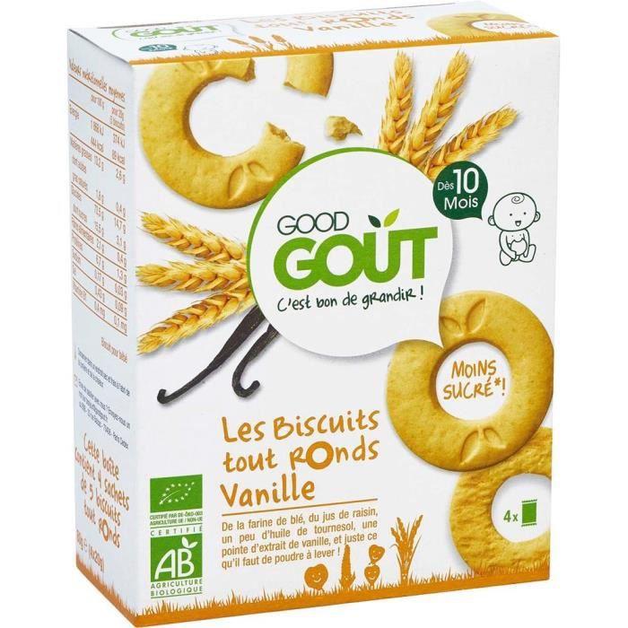 GOOD GOUT Biscuits tout ronds Vanille Bio - Dès 10 mois