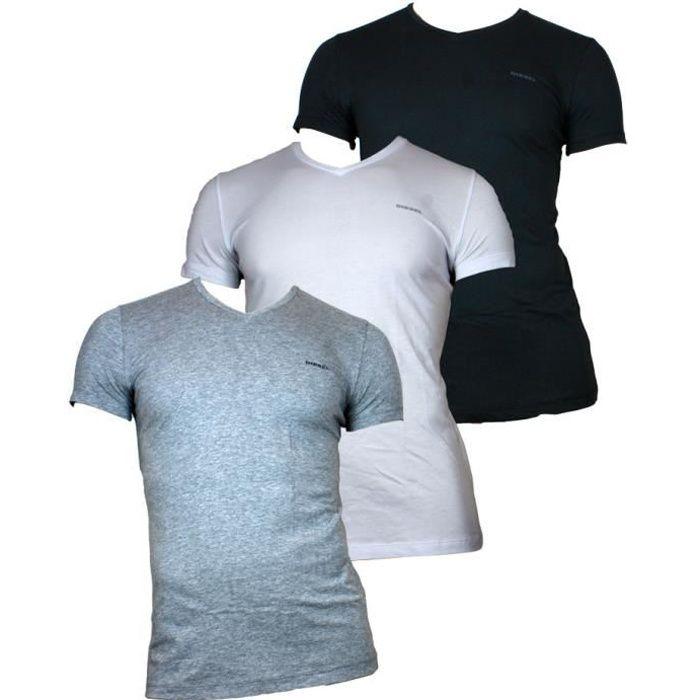 DIESEL - Lots de 3 T-shirts The Essential - Homme