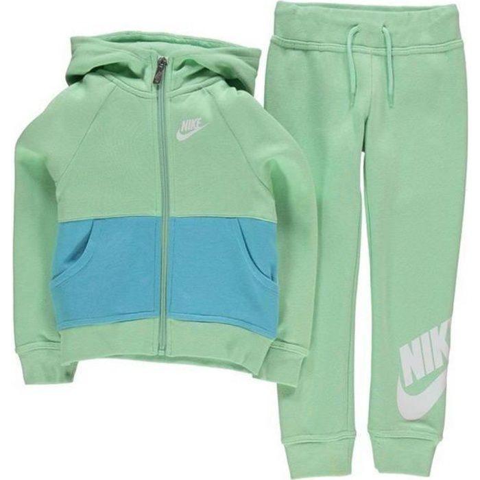Jogging Polaire Vert Bébé Nike Fille