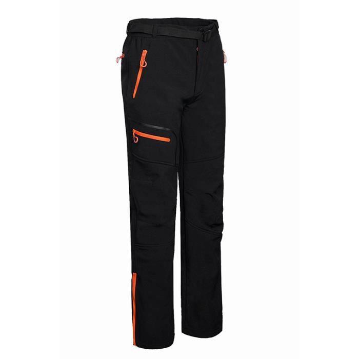 Pantalon Softshell Homme Sport De Montagne Plein Air Logo Personnalisable Randonnée Camping Velours Composite Coupe-Vent Respirant