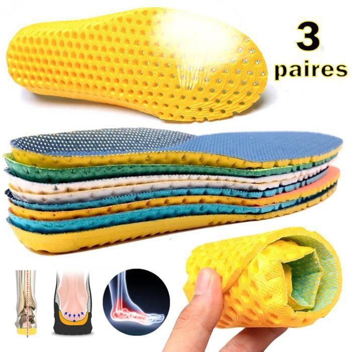YOLISTAR 3 Paires Semelle Orthopédique - Semelles Orthopédiques Sport Ultra Confort - Semelle Taille ajustable