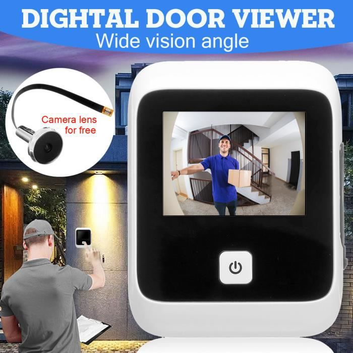 NEUFU Sans Fil Digital Porte Visuel Sonnette Vidéo Caméra Moniteur 3 inch TFT 960x480HD Ecran