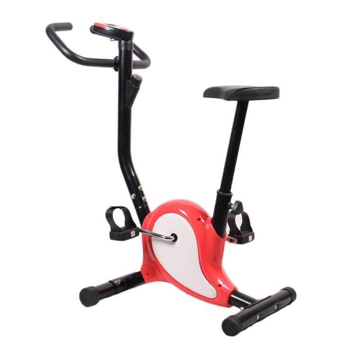 Vélo D'Appartement Gymnastique Réglable Exercice Fitness Cycle - noir Rose rouge