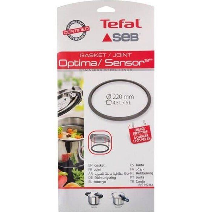 Joint sensor/optima 3l/4,5l/6l inox pour Autocuiseur Seb, Cocotte Seb, Autocuiseur Tefal - 3665392357254