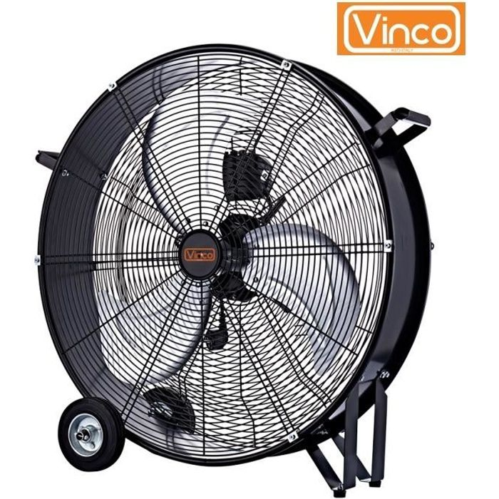 Ventilateur industriel - Fan - Brasseur d'air 3 vitesses 120 W - 60 cm VINCO - MAXIMUM SILENCE