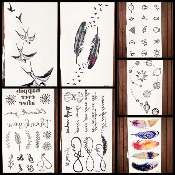 7 Morceaux Sexy Impermeable Hommes Bras Charme Noir Infini Lettre Temporaire Femmes Autocollants De Tatouage Tribal Plume Faux Pate Achat Vente Tatoo Bijou De Corps 7 Morceaux Sexy Impermeable Cdiscount