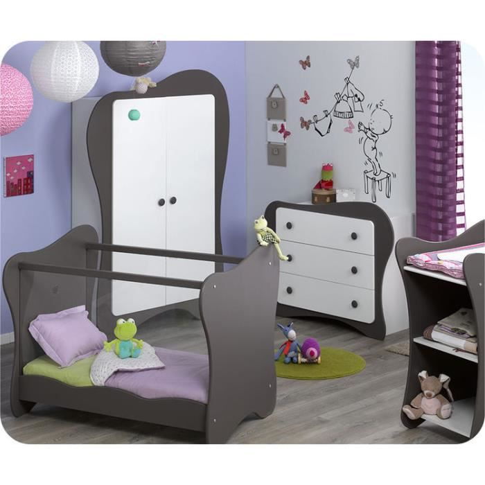 chambre b b compl te iris taupe achat vente chambre compl te b b chambre b b compl te. Black Bedroom Furniture Sets. Home Design Ideas