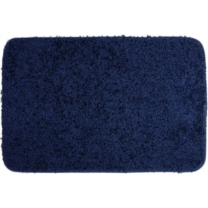 tapis de bain shaggy bleu marine achat vente tapis de bain cdiscount. Black Bedroom Furniture Sets. Home Design Ideas