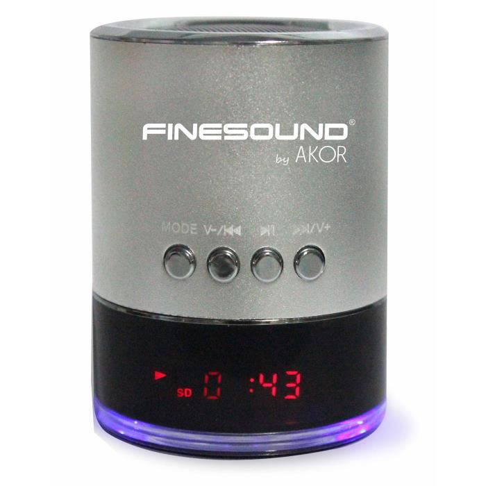 finesound by akor enceinte portable usb aux. Black Bedroom Furniture Sets. Home Design Ideas
