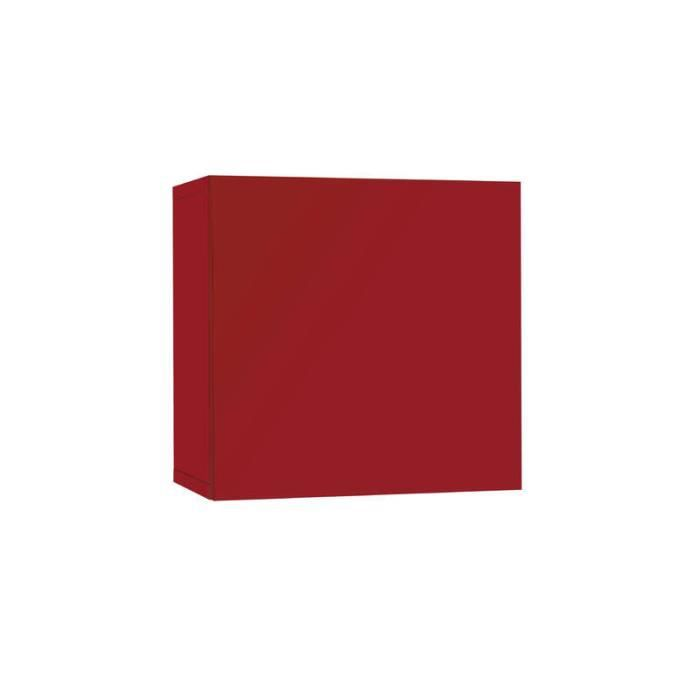 meuble tv laqu mural cube rouge achat vente living meuble tv meuble tv laqu mural cube. Black Bedroom Furniture Sets. Home Design Ideas