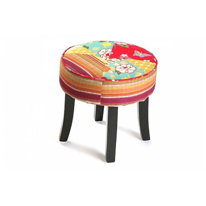 petit tabouret patchwork minautore achat vente. Black Bedroom Furniture Sets. Home Design Ideas