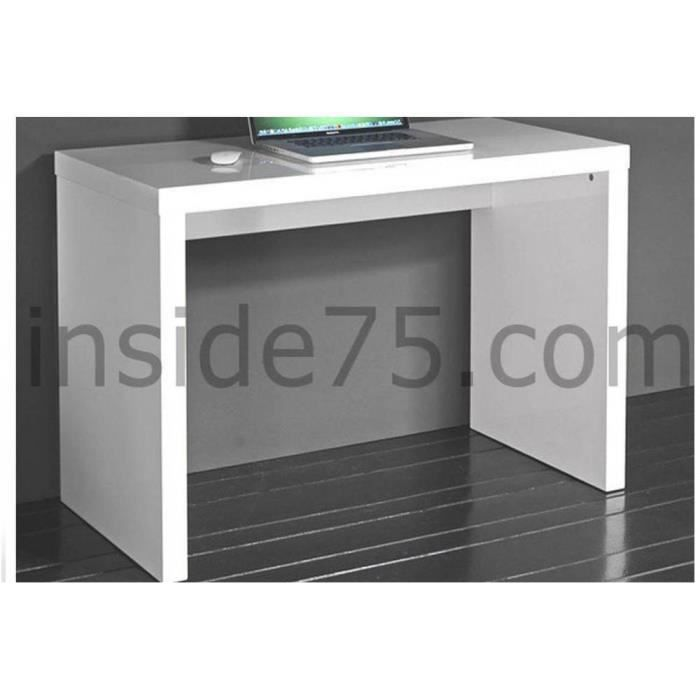 cubic bureau laqu blanc brillant achat vente bureau cubic bureau laqu blanc br cdiscount. Black Bedroom Furniture Sets. Home Design Ideas