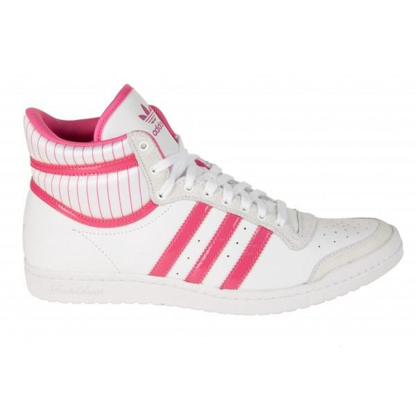 basket adidas top ten high sleek femme blanc rose achat vente basket adidas top ten 40 2 3. Black Bedroom Furniture Sets. Home Design Ideas