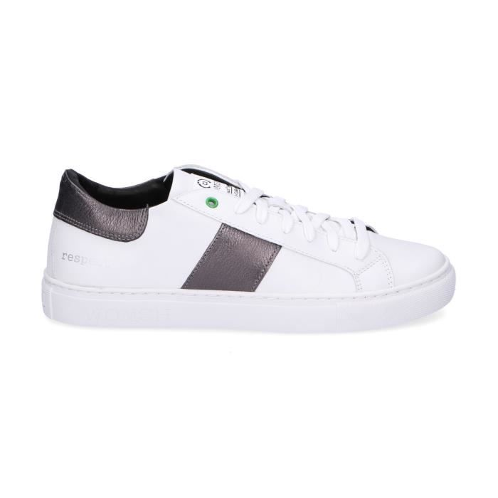WOMSH HOMME K270654 BLANC CUIR BASKETS wfKQgE8pdM