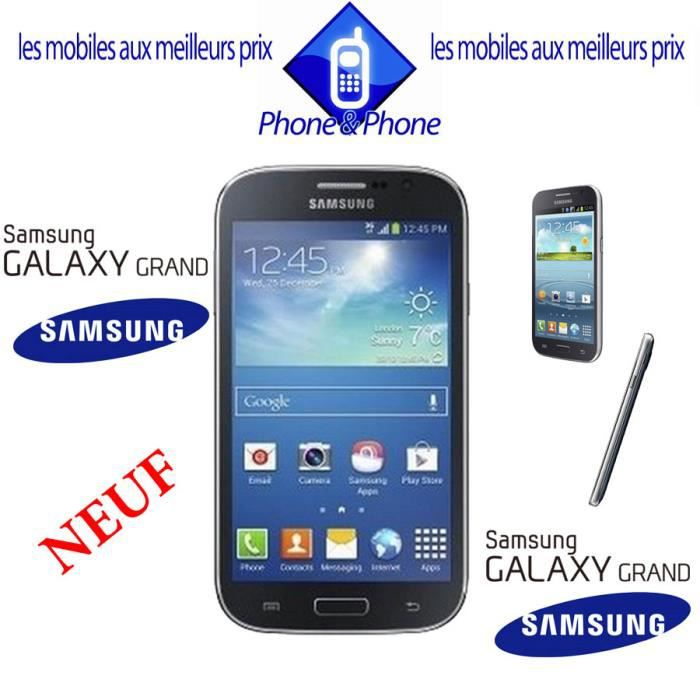 samsung galaxy grand noir neuf i9060 new smartphone. Black Bedroom Furniture Sets. Home Design Ideas