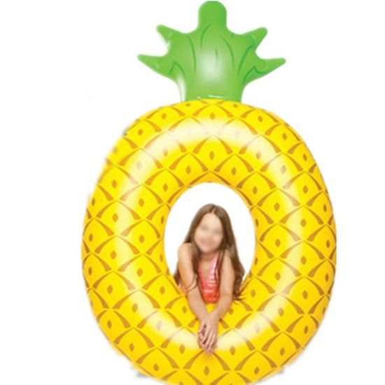 Bouée Adulte Flotteur Gonflable Forme Ronde Dessin Ananas