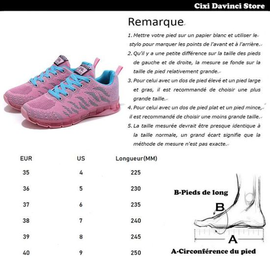 Sneakers Basses Running Fitness Femme Multisports Gym Fille Rose rzxF6