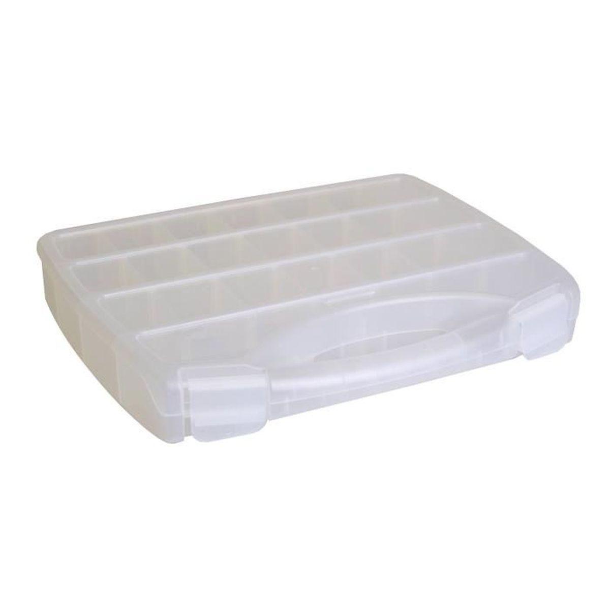 Boite de rangement plastique avec poignee - Achat / Vente pas cher