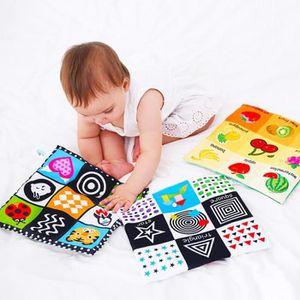 JEU D'APPRENTISSAGE Bébé jouets nouveau-né doux tissu livre 0-12 mois