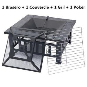 BRASERO - ACCESSOIRE Brasero de jardin terrasses BBQ Barbecue charbon F