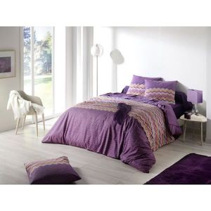 housse de couette 220x240 violette achat vente housse de couette 220x240 violette pas cher. Black Bedroom Furniture Sets. Home Design Ideas