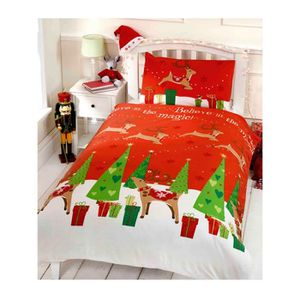 linge de lit noel achat vente linge de lit noel pas cher cdiscount. Black Bedroom Furniture Sets. Home Design Ideas