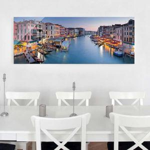 CADRE PHOTO 40x100 cm verre image - soirée sur le grand canal