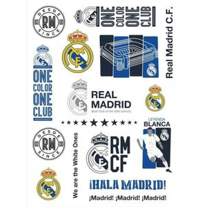 JEU DE TATOUAGE Real Madrid 1 planche 15 tatouages stickers tatoo