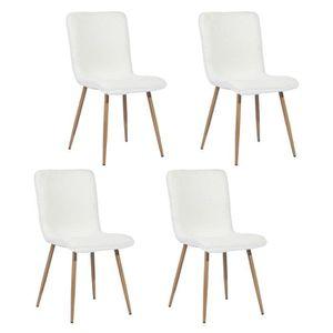 CHAISE Lot de 4 chaises salle à manger, look Scandinave,