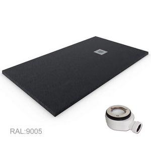 Receveur de Douche Resine Gel Coat Charge Min/érale Blanc Ral 9003 80X160 Texture Ardois/ée Extra Plat